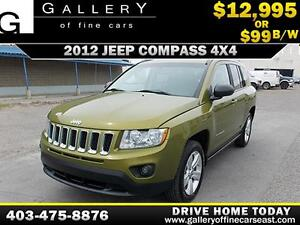 2012 Jeep Compass North 4x4 $99 bi-weekly APPLY NOW DRIVE NOW