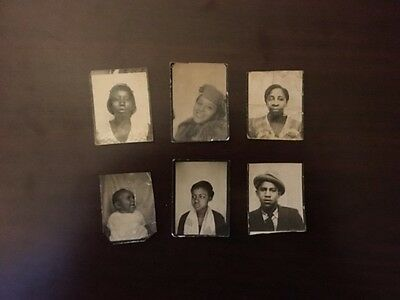 Vintage African American Photographs - From Photo Booth - Lot of 6