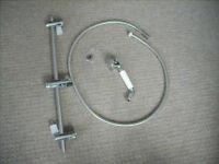 Retro Shower Head, shower rail and 1.5m Hose