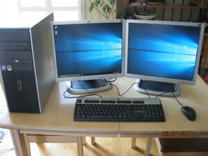 "HP Compaq DC-7900 with dual HP L1950g 19"" Monitors"
