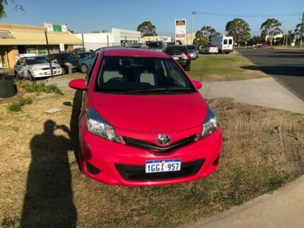 2012 Toyota Yaris NCP130R YR Pink 4 Speed Automatic Hatchback Wangara Wanneroo Area Preview