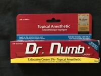 Dr Numb numbing cream £22 inc delivery