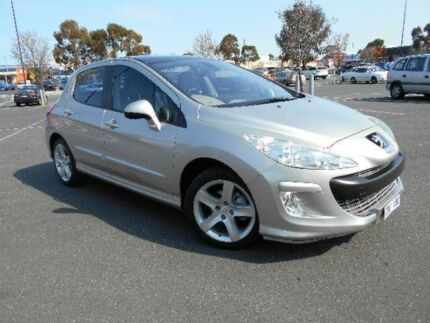 2009 Peugeot 308 XTE Turbo Silver 4 Speed Automatic Hatchback Maidstone Maribyrnong Area Preview