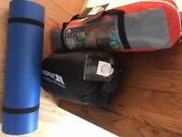 Camping Tent / Sleeping Bag And Camping MAT