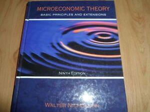 Microeconomic theory de Walter Nicholson- 9e édition