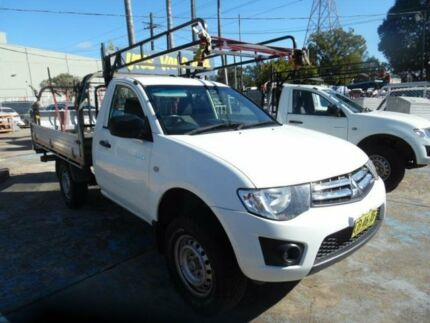 2013 Mitsubishi Triton MN MY13 GLX White 4 Speed Automatic Cab Chassis Homebush West Strathfield Area Preview