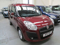 11 FIAT DOBLO WHEELCHAIR ADAPTED 50 + ADAPTED VEHICLES IN STOCK