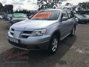 2004 Mitsubishi Outlander ZE XLS Silver 4 Speed Auto Sports Mode Wagon Lansvale Liverpool Area Preview