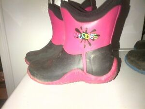 Girls Pink Rain Boots Size Youth 1