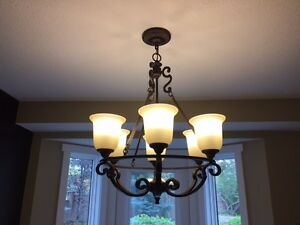 6 Light Bronze Chandelier