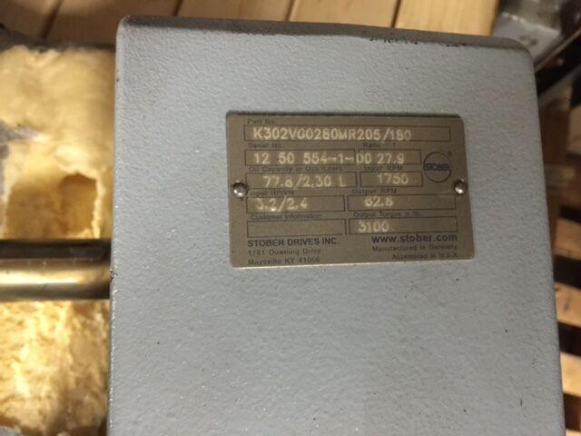 Stober Drives Inc. Gear Reducer K302VG0280MR205/180 NEW