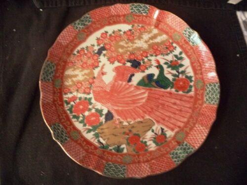 Imari Japan  Peacock Dinner Plate