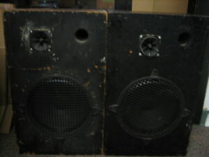 Pair of P.A. Speakers. Homemade Solid Great Sound