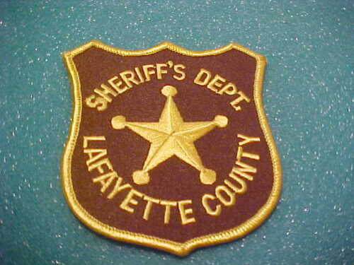 LAFAYETTE COUNTY WISCONSIN POLICE PATCH SHOULDER SIZE UNUSED