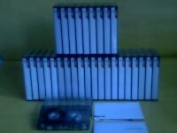 TDK D C90 CASSETTE TAPES x 30 : PRO-USE ONCE ONLY THEN STORED.Many makes/types/lengths/pre/new/used.