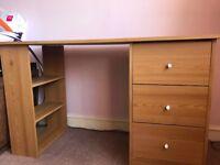 Office Desk Pine Effect