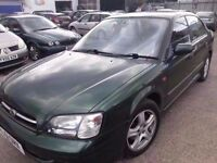 SUBARU LEGACY 2.5 AUTOMATIC LEATHER GREEN 4WD 51 REG LOW MILES 85K