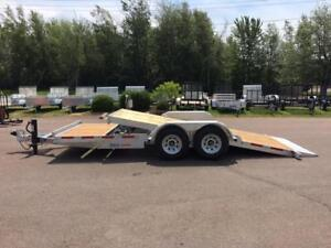 "NEW 2019 K-TRAIL 80"" x 20' HD GALVANIZED SPLIT TILT TRAILER"