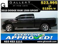2010 DODGE RAM SPORT CREW *EVERYONE APPROVED* $0 DOWN $189/BW!