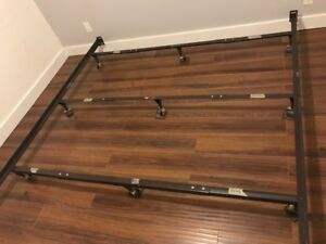 metal bed frame - adjustable - expands to king-size