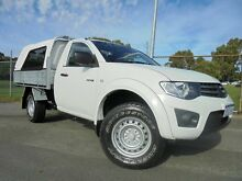 2013 Mitsubishi Triton MN MY13 GLX (4x4) White 5 Speed Manual 4x4 Cab Chassis Victoria Park Victoria Park Area Preview
