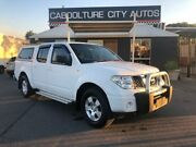 2010 Nissan Navara D40 RX 4x2 White 6 Speed Manual Utility Morayfield Caboolture Area Preview