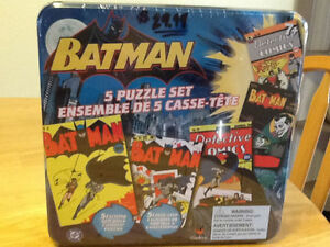 BATMAN 5 PUZZLE SET IN METAL TIN