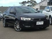 2010 Mitsubishi Lancer Black Constant Variable Sedan Hoppers Crossing Wyndham Area Preview