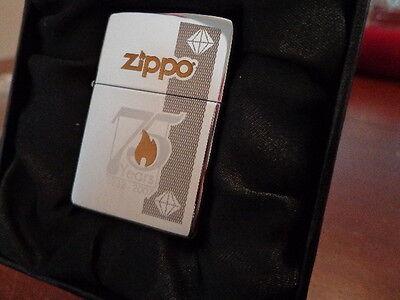 ZIPPO 75TH ANNIVERSARY 1932-2007 ZIPPO LIGHTER MINT IN BOX C