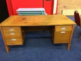 Large oak office desk