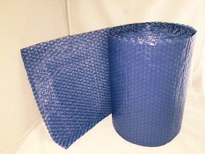 25 Feet X 12 Inches X 316 Small Bubbles Blue Color Bubble Wrap Roll Bubblewrap