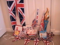 GB flags, bunting, glasses, beenyboppers, leg warmers, leggings, inflatable Gb torch, ribbons etc