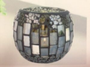 Charcoal Mirror Mosaic Candle Holder