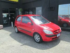 2006 Hyundai Getz Red 5 Speed Manual Hatchback O'Connor Fremantle Area Preview