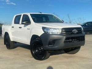 2016 Toyota Hilux GUN125R Workmate Double Cab White 6 Speed Sports Automatic Utility Muswellbrook Muswellbrook Area Preview