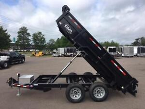 NEW 2018 CAM SUPERLINE 6' x 12' DUMP TRAILER w/ RAMP PACKAGE