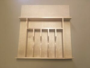 new wooden cutlery tray cut to fit drawer