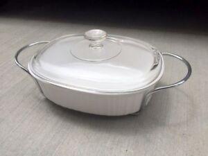 Corningware French White Oval Roaster/Casserole 3 piece set, New