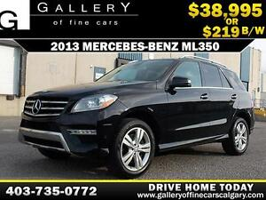 2013 Mercedes ML350 BLUETEC $219 biweekly APPLY NOW DRIVE NOW