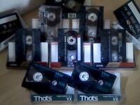 CASSETTE TAPES 2x THAT'S VX C90 CHROME, 1x PIONEER N1 & N2 C60s, 4x TDK AR C60/C90, 1x SONY HF.S C90