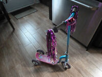 Princess Ariel 3 wheel scooter by Huffy  This sturdy scooter has