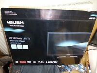 "20 "" LED BUSH HD READY TV / DVD PLAYER---NEARLY NEW---ALL BOXED"