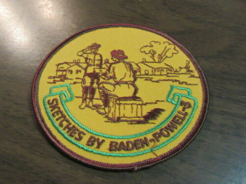 Sketches by Baden-Powell - 3,   4 inch Pocket Patch   c4