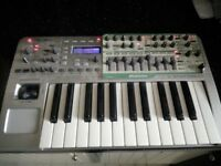 novation x station 25 synthesizer and audio usb midi controller boxed gwo
