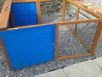 hutch/pen/run rabbit, guinea pig, tortoise - folding, portable VGC 4 ft square when opened up. £30