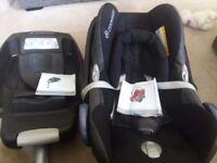 Maxi cosi cabriofix car seat and easybase 2
