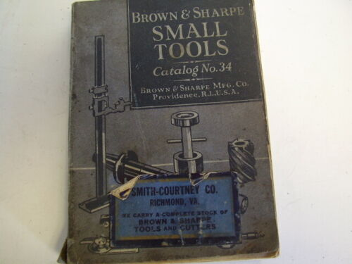 Brown and Sharpe 1941 Small Tools  Catalog