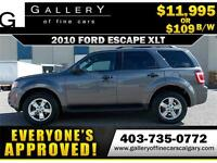 2010 Ford Escape XLT 4WD $109 bi-weekly APPLY NOW DRIVE NOW