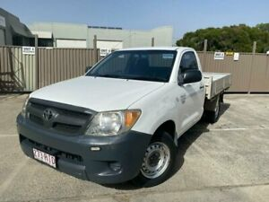 2007 Toyota Hilux TGN16R 07 Upgrade Workmate White 5 Speed Manual Cab Chassis Burleigh Heads Gold Coast South Preview