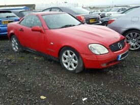 many parts removed and available for mercedes slk r170 230 1999
